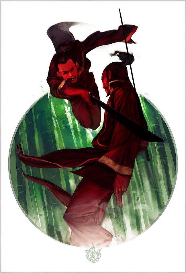 Sokka vs. Swordmaster by ChristianNauck