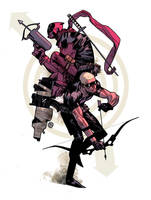 Hawkeye n Deadpool by ChristianNauck