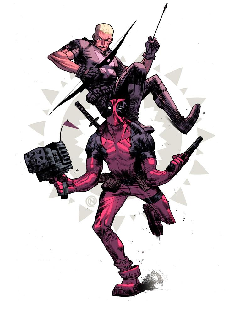 Hawkeye n Deadpool #2 by ChristianNauck