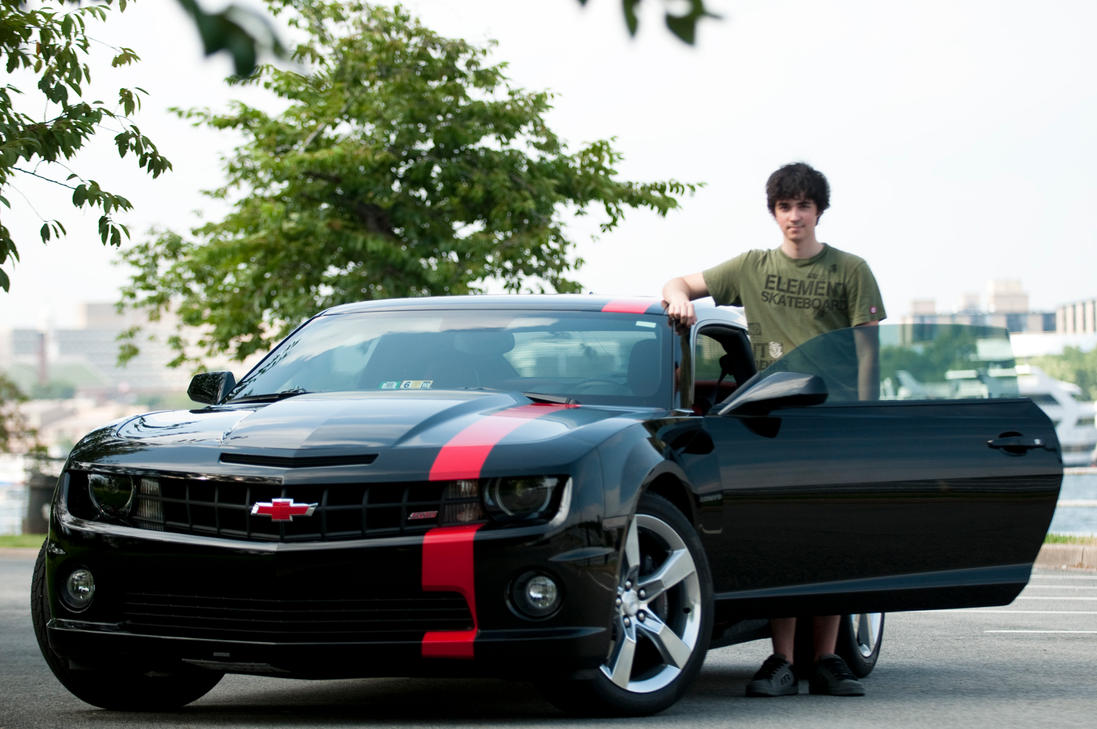 Older shot of me and my Camaro by Halihax on DeviantArt