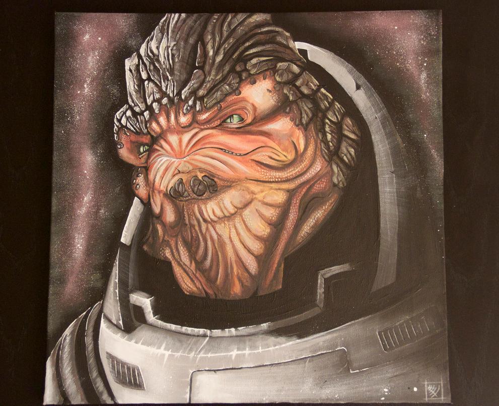 Grunt on canvas by ChrispyDee