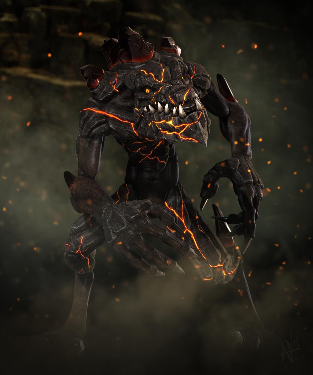 Lava Creature by ANedrehagen