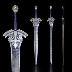 Excalibur, Fate/Prototype by CrescentMoonRose
