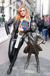 Becky Lynch At Fearless Girl Statue073