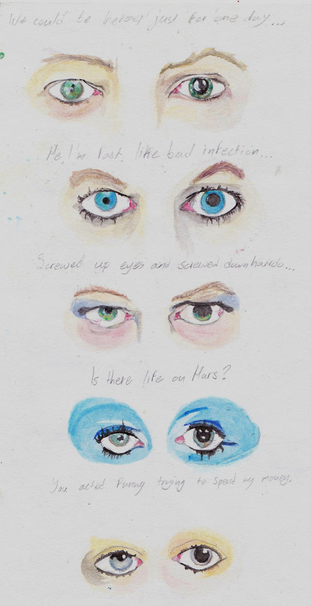 She's got David Bowie's eyes by timothyt