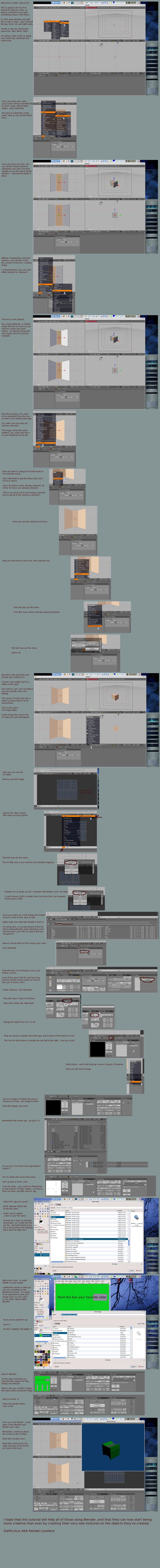 Blender UV Tutorial by SiathLinux