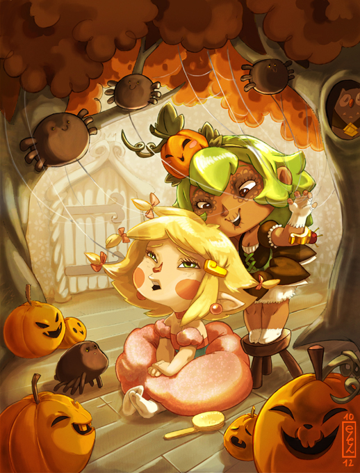 .:Amalia's Halloween:. by Marmottegarou