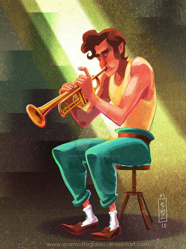 .: Le trompetiste :. by Marmottegarou