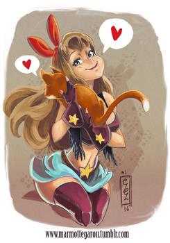 :Kitty hug: