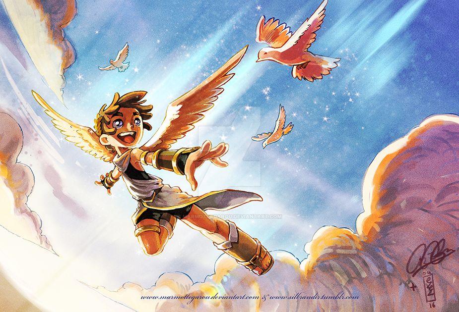 : Kid Icarus collab : by Marmottegarou