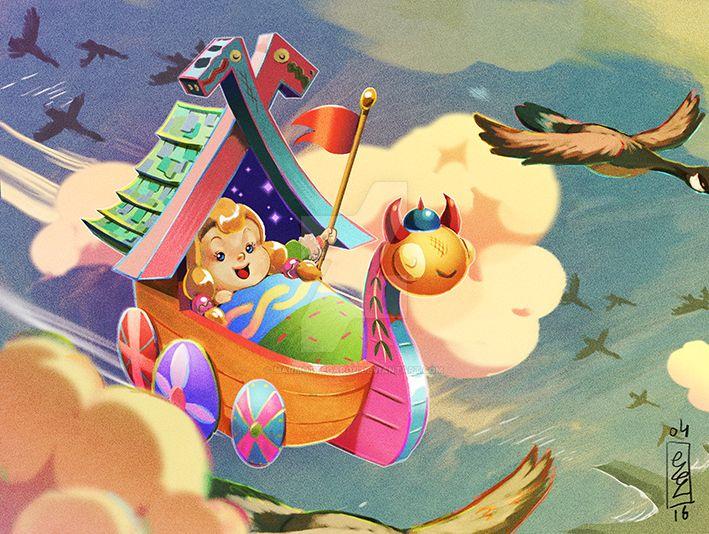 :Lil' valkyrie's vessel: by Marmottegarou