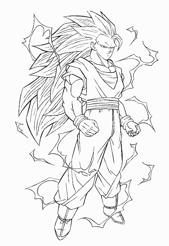 ss 3 goku coloring page by kavina2000 on deviantart - Dragon Ball Coloring Pages Goku