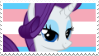 Trans Girl Rarity stamp by babypaste