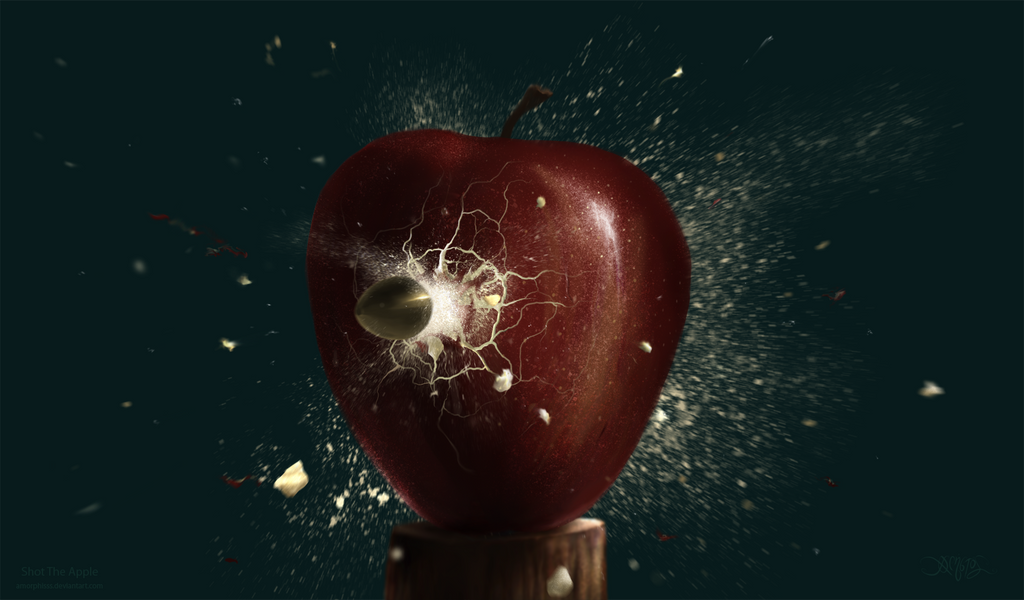 Shot The Apple by amorphisss