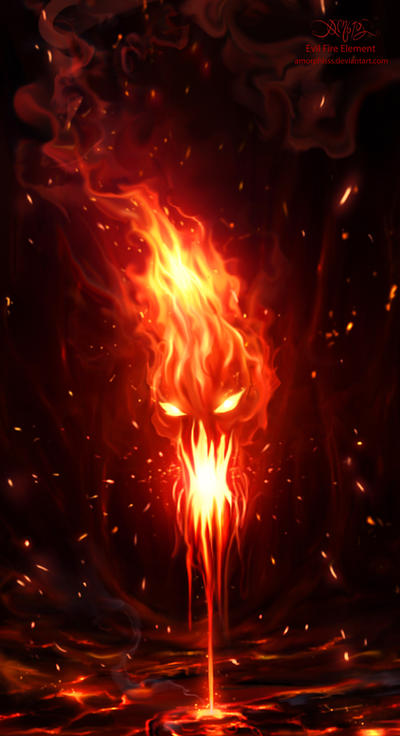 Evil Fire Element by amorphisss