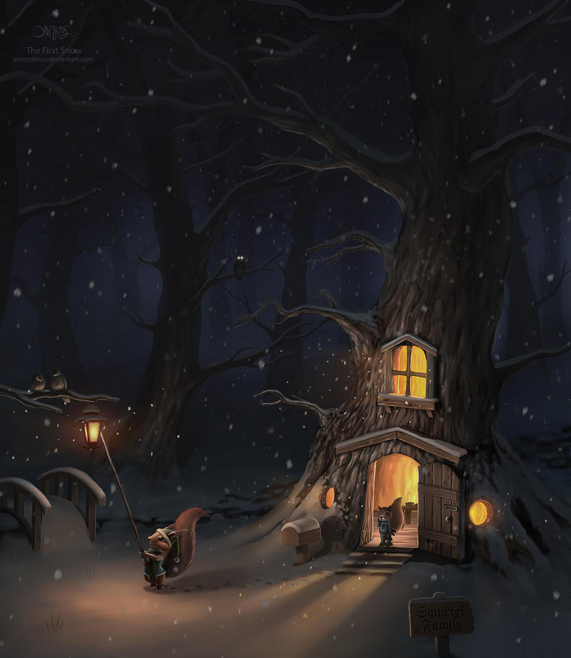 The First Snow by amorphisss on DeviantArt