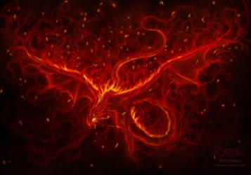 Dragon Flames by amorphisss