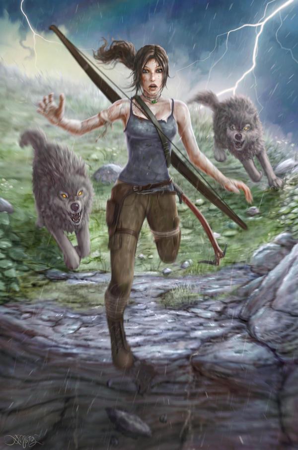 Lara Croft by amorphisss