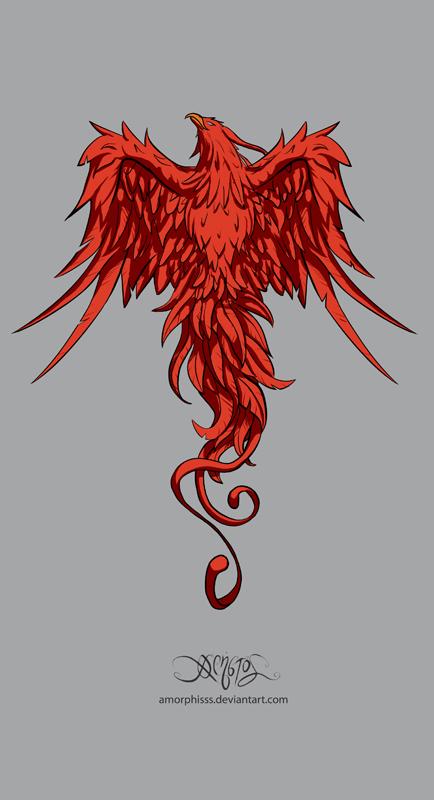 Phoenix Tattoo Designs On Back