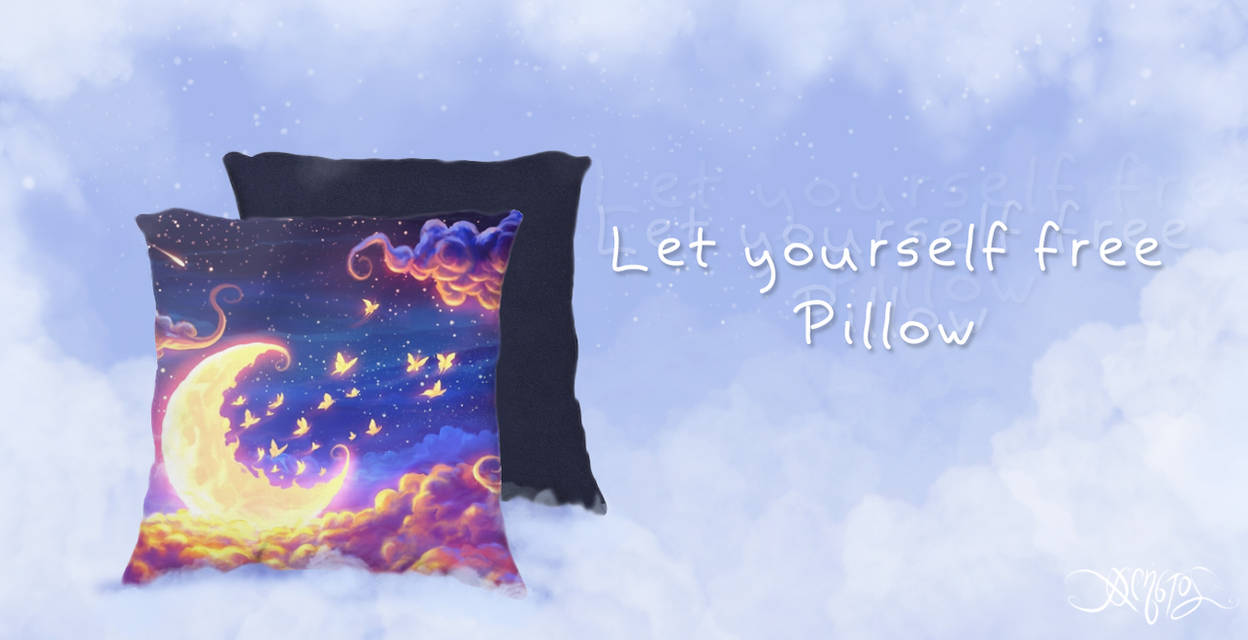 Let yourself free Pillow by amorphisss
