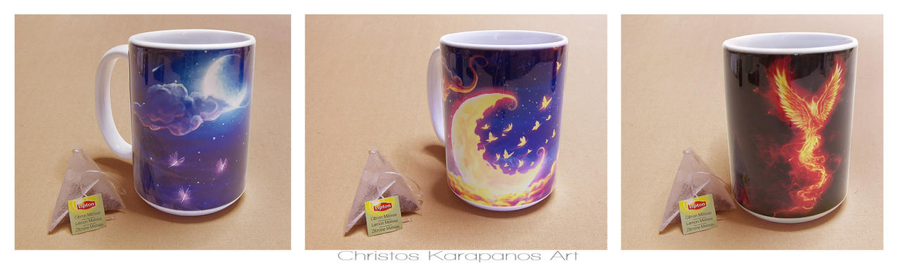My artwork mugs by amorphisss