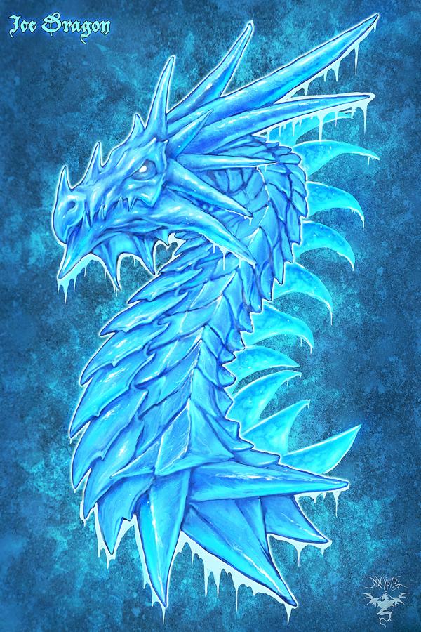 Ice Dragon by amorphisss