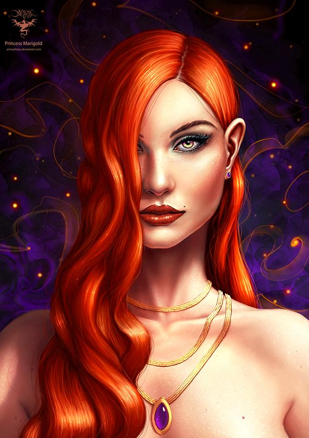 Princess Marigold by amorphisss