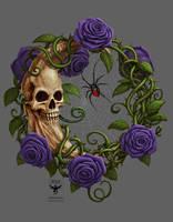 Skeleton Moon Purple ver by amorphisss
