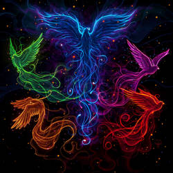 Sky full of phoenix by amorphisss