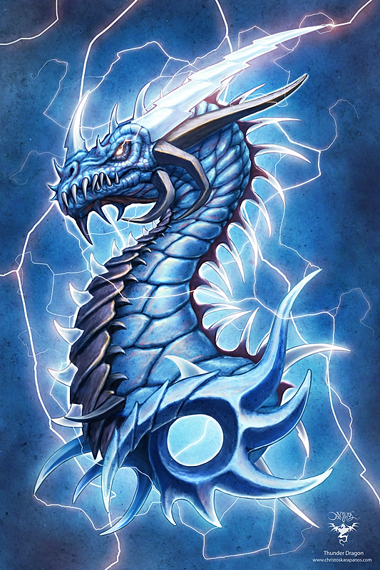 Thunder Dragon by amorphisss