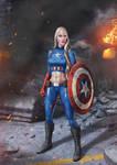 Female Captain America by amorphisss