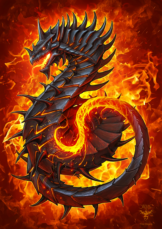 Fire Dragon by amorphisss on DeviantArt