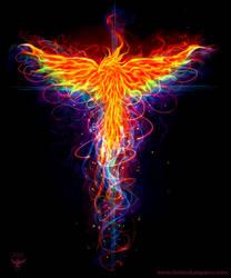 Rainbox Phoenix by amorphisss