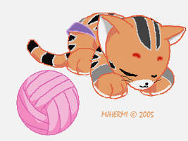 TT - Exhausted Kitty by chaneljay