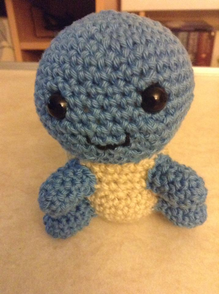 Squirtle Crochet (Front) by Fluffer2004