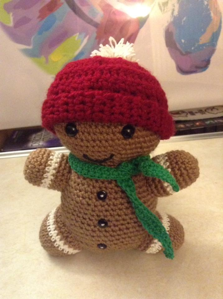 Gingerbread Man Crochet by Fluffer2004