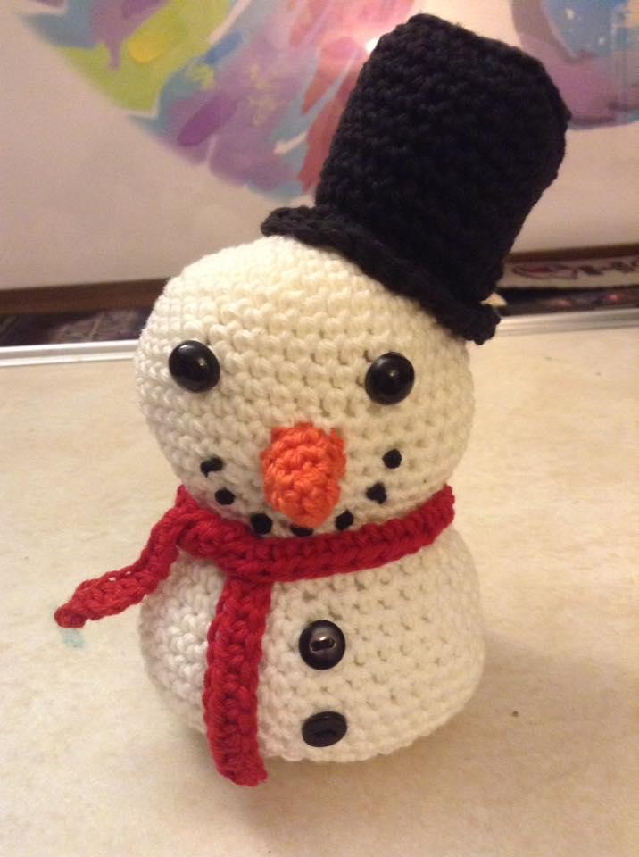 Snowman Crochet by Fluffer2004