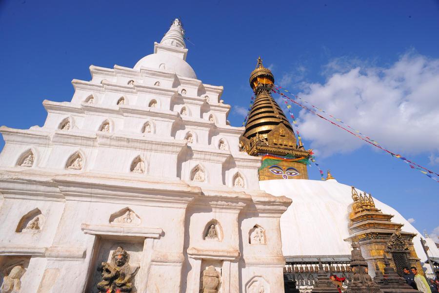 Sky Stupa (Katmandu, Nepal) by drewhoshkiw