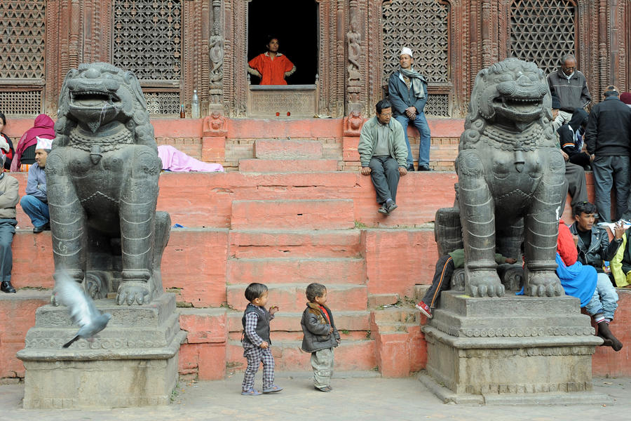 Street scene (Katmandu, Nepal) by drewhoshkiw
