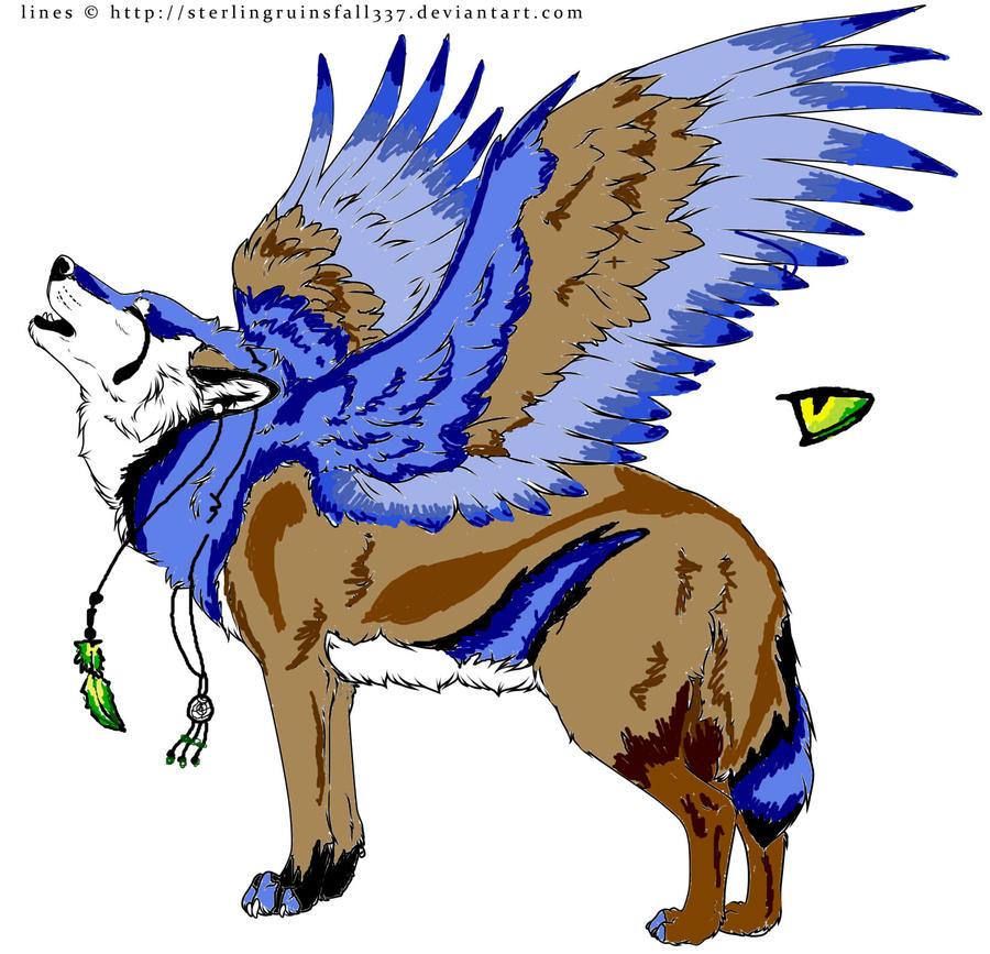 ImageSpace - Elemental Winged Wolves | gmispace com