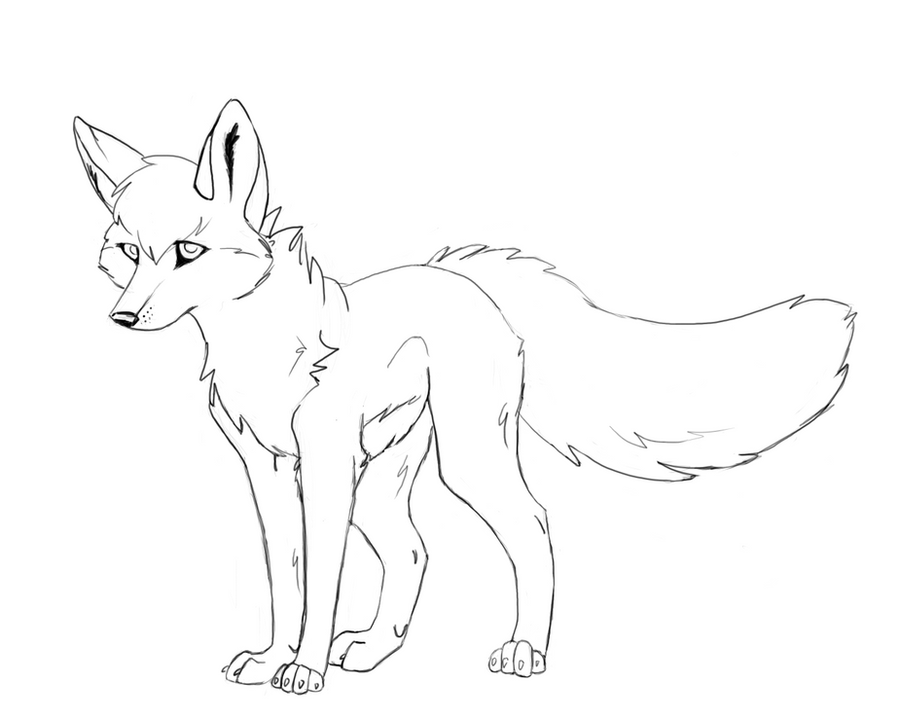Line drawing wolf free wolf line art 1 by
