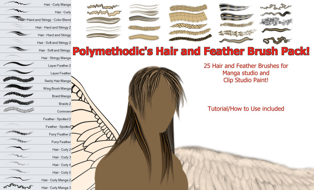 Polymethodic's Hair and Feather Brush Pack!