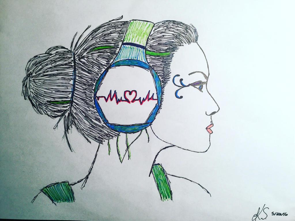 Heartbeat Line Art : Heartbeat music by kara schnegs on deviantart