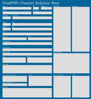 Blank Character Reference Sheet by nina8705