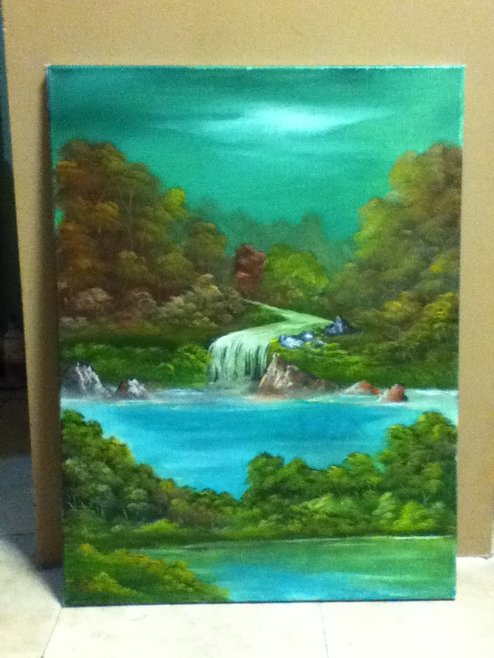 original oil painting on canvas for sale auction by