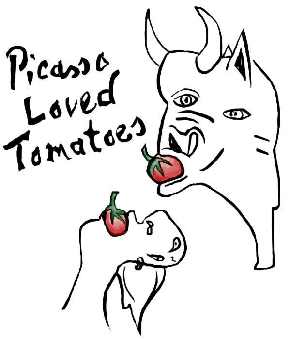 Picasso Loved Tomatoes by kuso