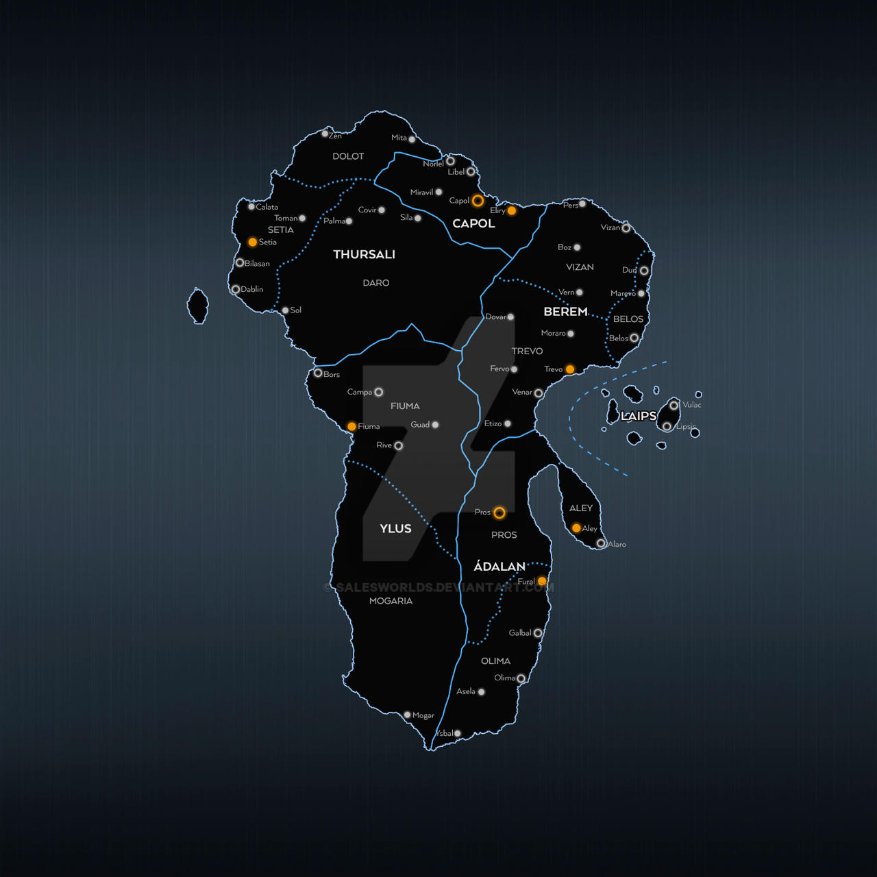 Lanoyta borders by SalesWorlds