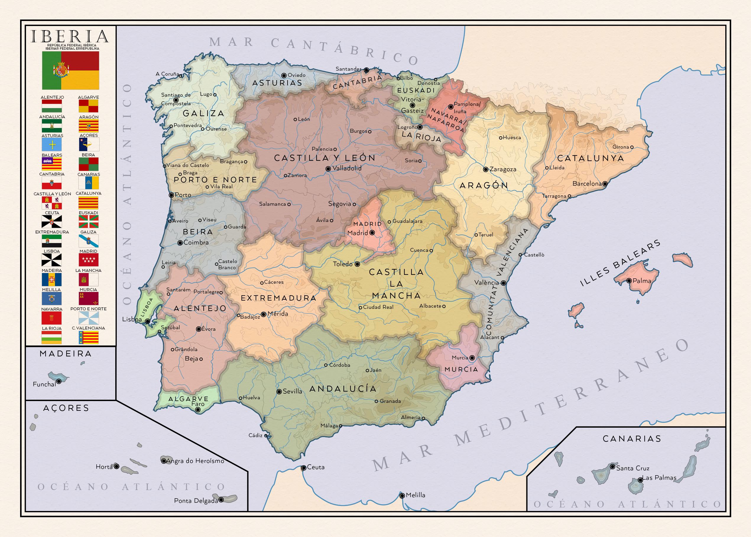 Iberia. Iberian federal republic. by SalesWorlds