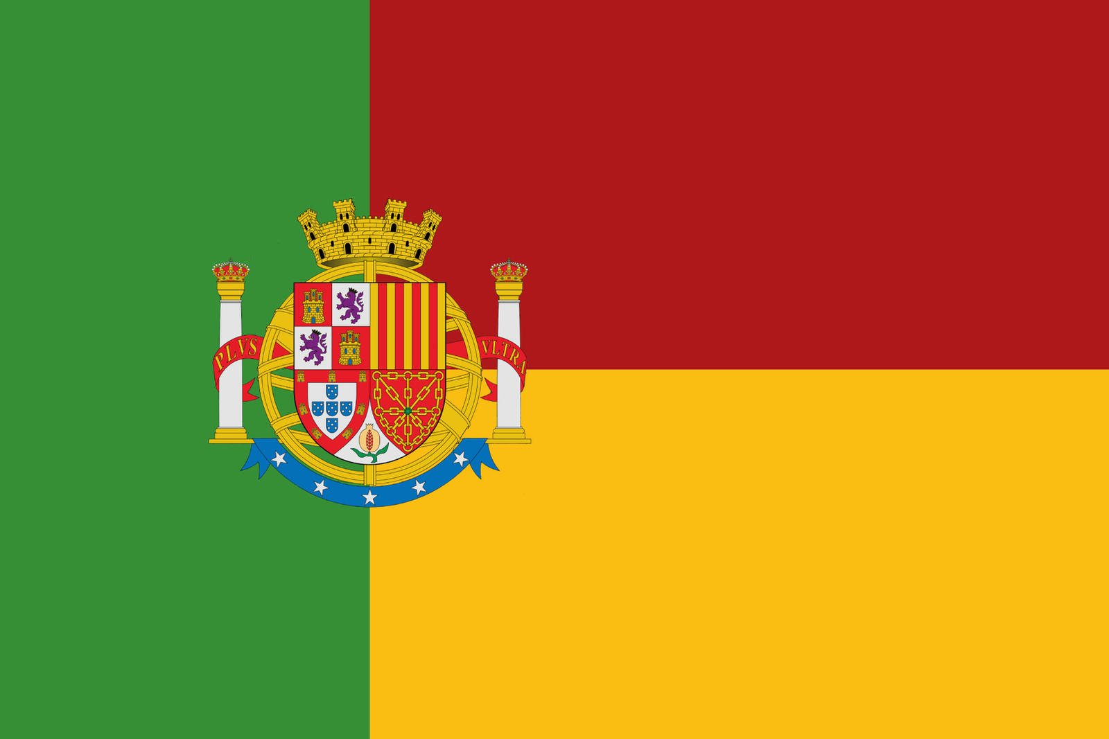 Iberia flag. Iberian Federal Republic. by SalesWorlds