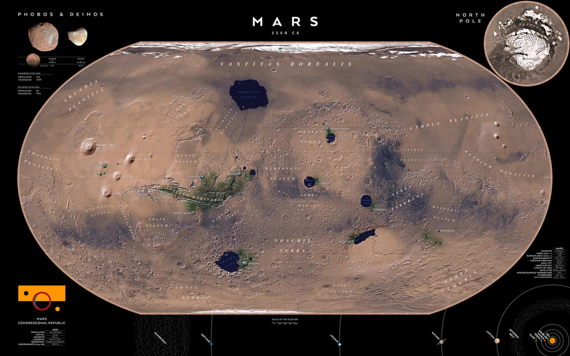 Mars year 2250 CE by SalesWorlds